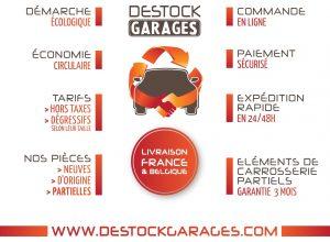 Destock Garages, Spécialiste de la pièce de carrosserie soudée partiel de réemploi unique en France